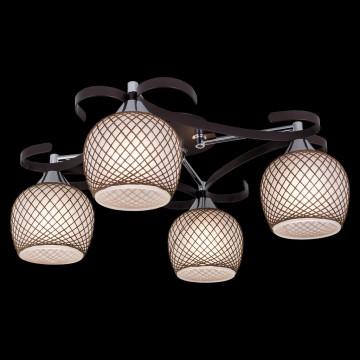 Потолочная люстра Citilux Сюзи CL171142, 4xE27x75W, венге, коричневый, металл, стекло - миниатюра 2