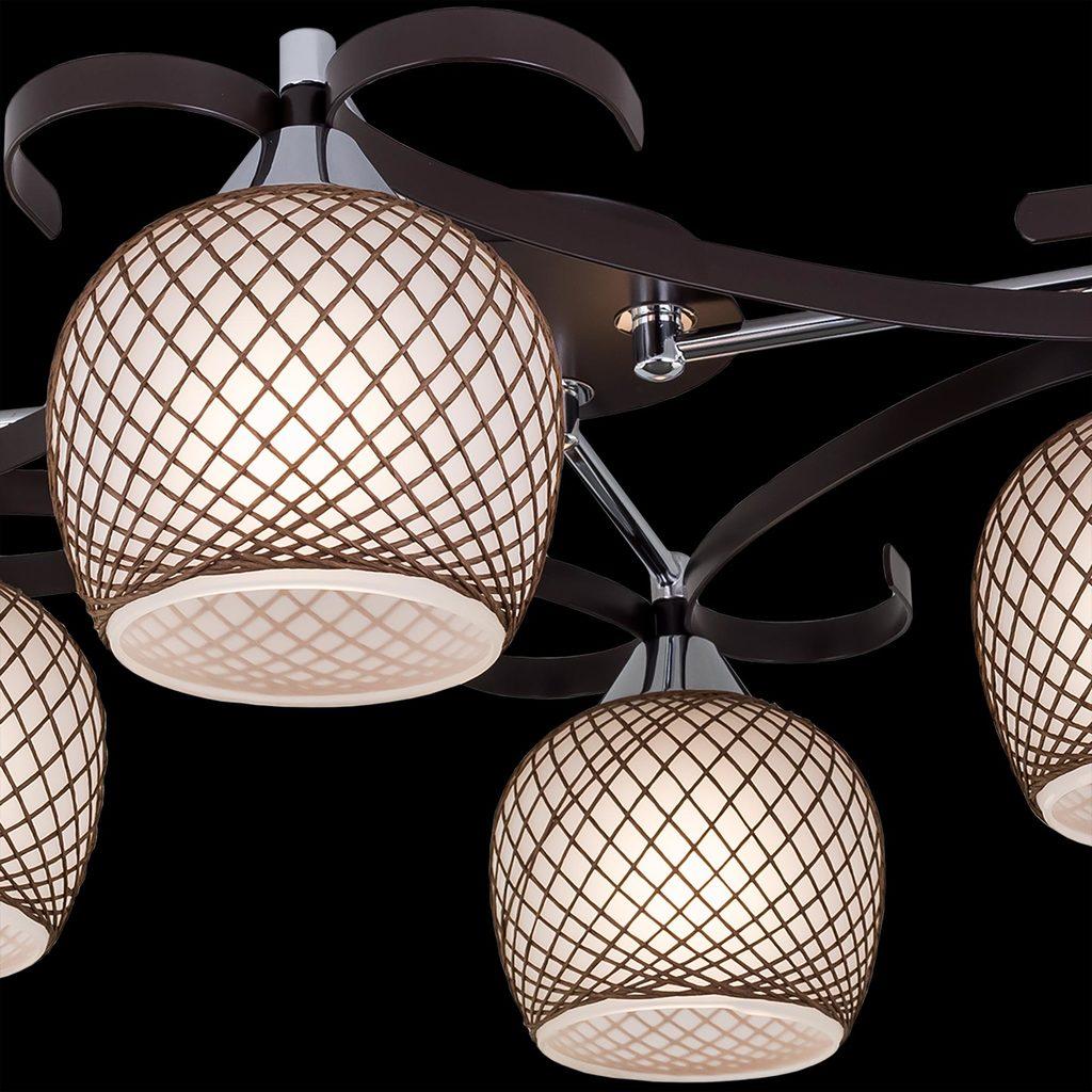 Потолочная люстра Citilux Сюзи CL171142, 4xE27x75W, венге, коричневый, металл, стекло - фото 4
