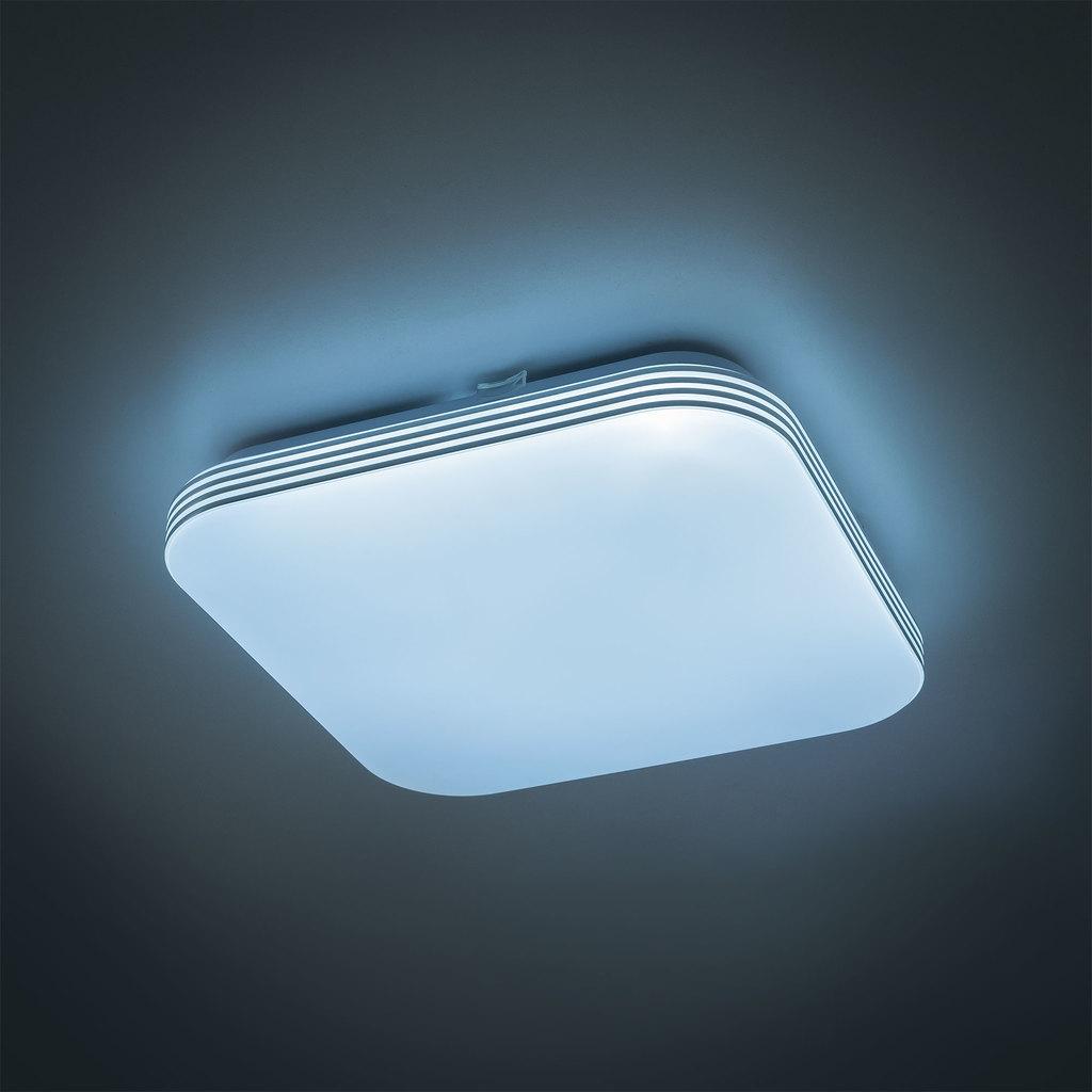 Потолочный светодиодный светильник Citilux Симпла CL714K18N, LED 18W 4000K 1300lm, белый, пластик - фото 4