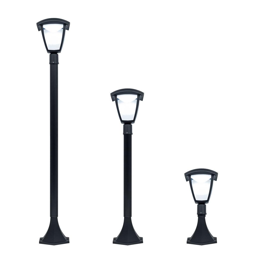 Уличный светодиодный фонарь Citilux CLU04B, IP54, LED 7W 4000K 500lm, черный, прозрачный, металл, металл со стеклом - фото 1