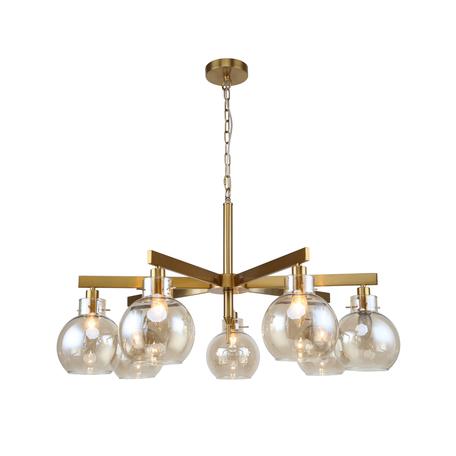 Светильник Favourite Palear 2775-7P, 7xE14x40W, металл, стекло