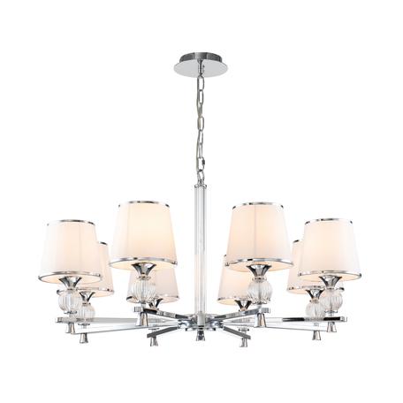Светильник Favourite Aureola 2873-8P, 8xE14x40W, металл со стеклом, текстиль с металлом