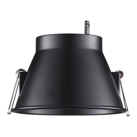 Основание встраиваемого светильника Novotech Melang 358196, черный, металл
