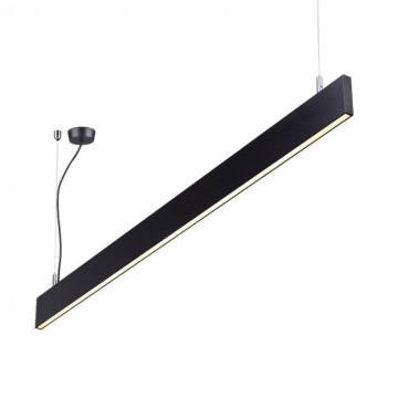 Подвесной светодиодный светильник Novotech Over Iter 358160, LED 40W 4000K 3240lm, черный, металл