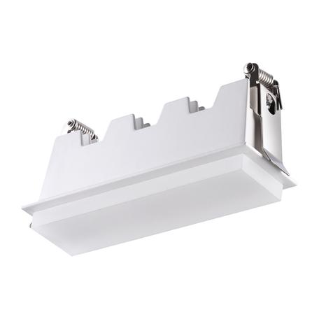 Встраиваемый светодиодный светильник Novotech Hielo 358240, LED 10W 4000K 700lm, белый, металл со стеклом/пластиком