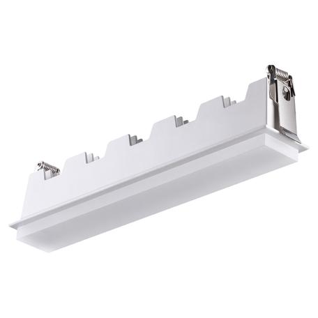 Встраиваемый светодиодный светильник Novotech Hielo 358241, LED 20W 4000K 1400lm, белый, металл со стеклом/пластиком