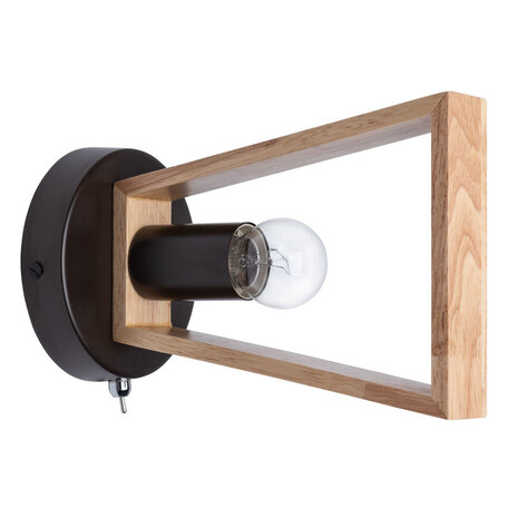 Настенный светильник Arte Lamp City Brussels A8030AP-1BK, 1xE27x60W, черный, коричневый, металл, дерево