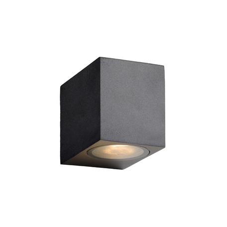 Настенный светильник Lucide Zora-LED 22860/05/30, IP44, 1xGU10x5W, черный, металл, стекло