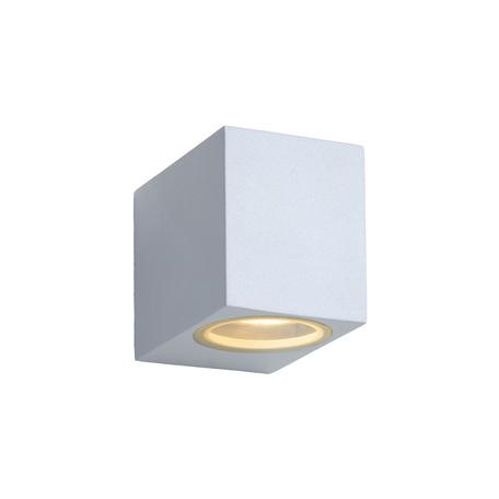 Настенный светильник Lucide Zora-LED 22860/05/31, IP44, 1xGU10x5W, белый, металл, стекло