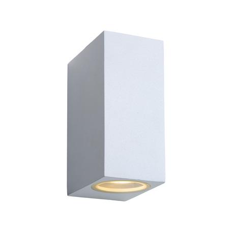 Настенный светильник Lucide Zora-LED 22860/10/31, IP44, 2xGU10x5W, белый, металл, стекло