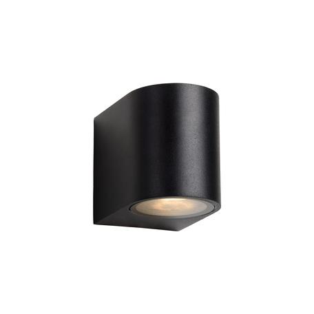Настенный светильник Lucide Zora-LED 22861/05/30, IP44, 1xGU10x5W, черный, металл, стекло