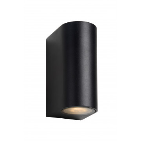 Настенный светильник Lucide Zora-LED 22861/10/30, IP44, 2xGU10x5W, черный, металл, стекло