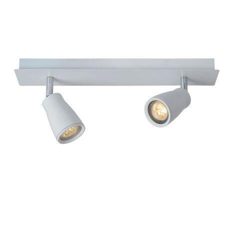 Потолочный светильник с регулировкой направления света Lucide Lana 17949/22/31, IP44, 2xGU10x4,5W, белый, металл