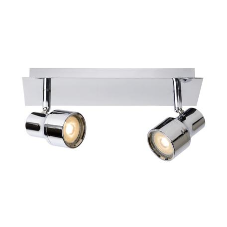 Потолочный светильник с регулировкой направления света Lucide Sirene-LED 17948/10/11, IP44, 2xGU10x5W, хром, металл