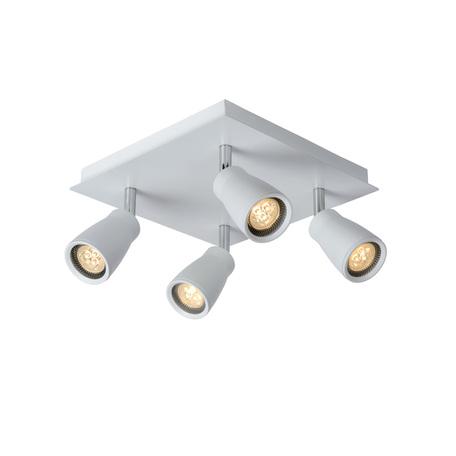 Потолочный светильник с регулировкой направления света Lucide Lana 17949/14/31, IP44, 4xGU10x4,5W, белый, металл
