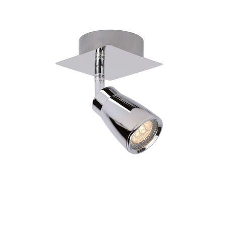 Потолочный светильник с регулировкой направления света Lucide Lana 17949/21/11, IP44, 1xGU10x4,5W, хром, металл