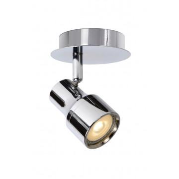 Потолочный светильник с регулировкой направления света Lucide Sirene-LED 17948/05/11, IP44, 1xGU10x5W, хром, металл