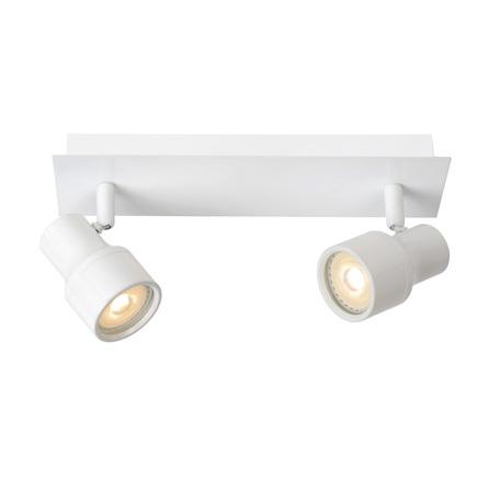 Потолочный светильник с регулировкой направления света Lucide Sirene-LED 17948/10/31, IP44, 2xGU10x5W, белый, металл