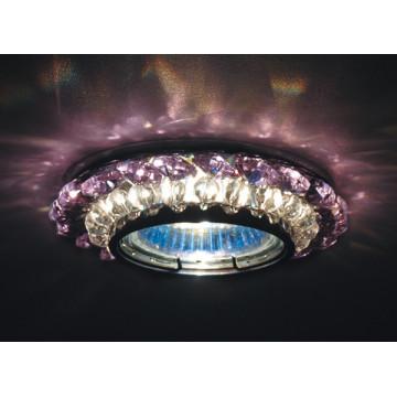 Встраиваемый светильник Donolux DL062.02.1/9 crystal/rose