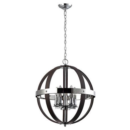 Подвесная люстра Divinare Norman 9980/022 SP-5, 5xE14x40W, хром, черный, металл