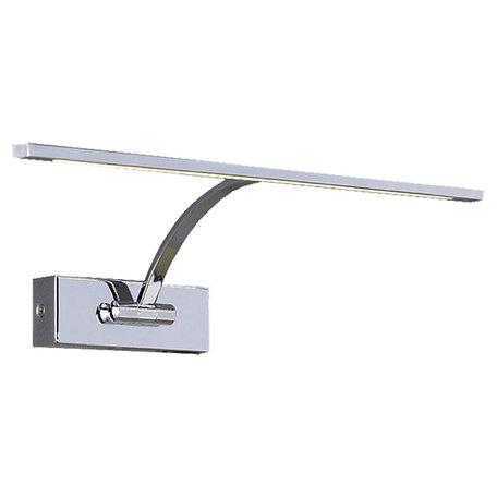 Настенный светодиодный светильник для подсветки картин Lussole Loft Matane LSP-8324, IP21, LED 6W 3000K 330lm, хром, металл