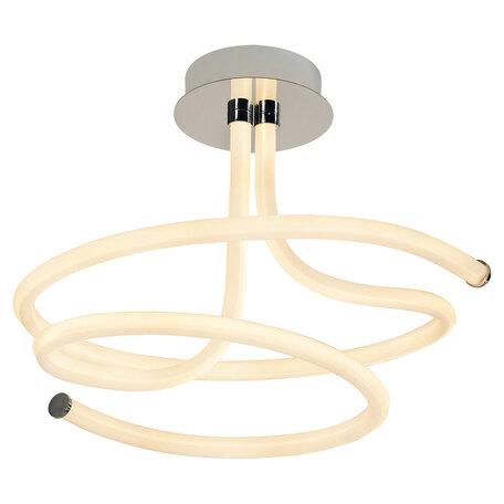 Потолочный светодиодный светильник Lussole Loft Ingersoll LSP-8345, IP21, LED 72W 3000K 6750lm, хром, белый, металл, пластик