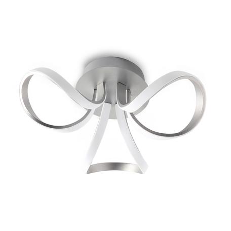 Потолочная люстра Mantra Knot LED 4994, матовый хром, белый, металл, пластик