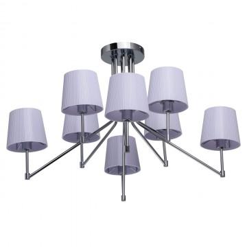 Потолочная люстра MW-Light Лацио 103010308, 8xE14x40W, хром, сиреневый, металл, пластик