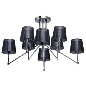 Потолочная люстра MW-Light Лацио 103010608, 8xE14x40W, хром, черный, металл, пластик