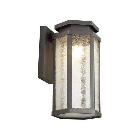 Настенный фонарь Odeon Light Nature Gino 4048/1W, IP44, 1xE27x100W, темно-серый, прозрачный, металл, металл со стеклом