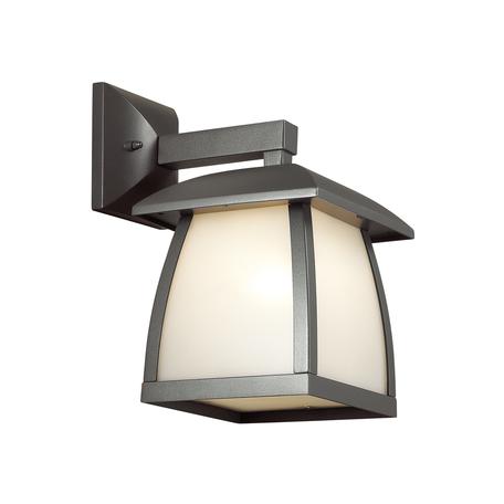 Настенный фонарь Odeon Light Tako 4049/1W, IP44, 1xE27x100W, серый, белый, металл, пластик