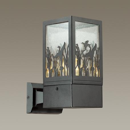 Настенный светильник Odeon Light Fressi 4053/1W, IP44, 1xE27x60W, черный, прозрачный, металл, стекло