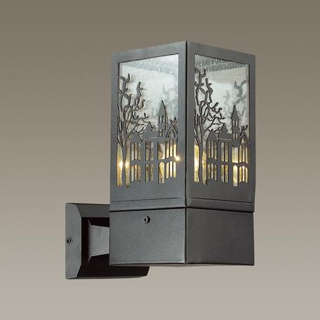 Настенный светильник Odeon Light Fressi 4054/1W, IP44, 1xE27x60W, черный, прозрачный, металл, стекло - миниатюра 1