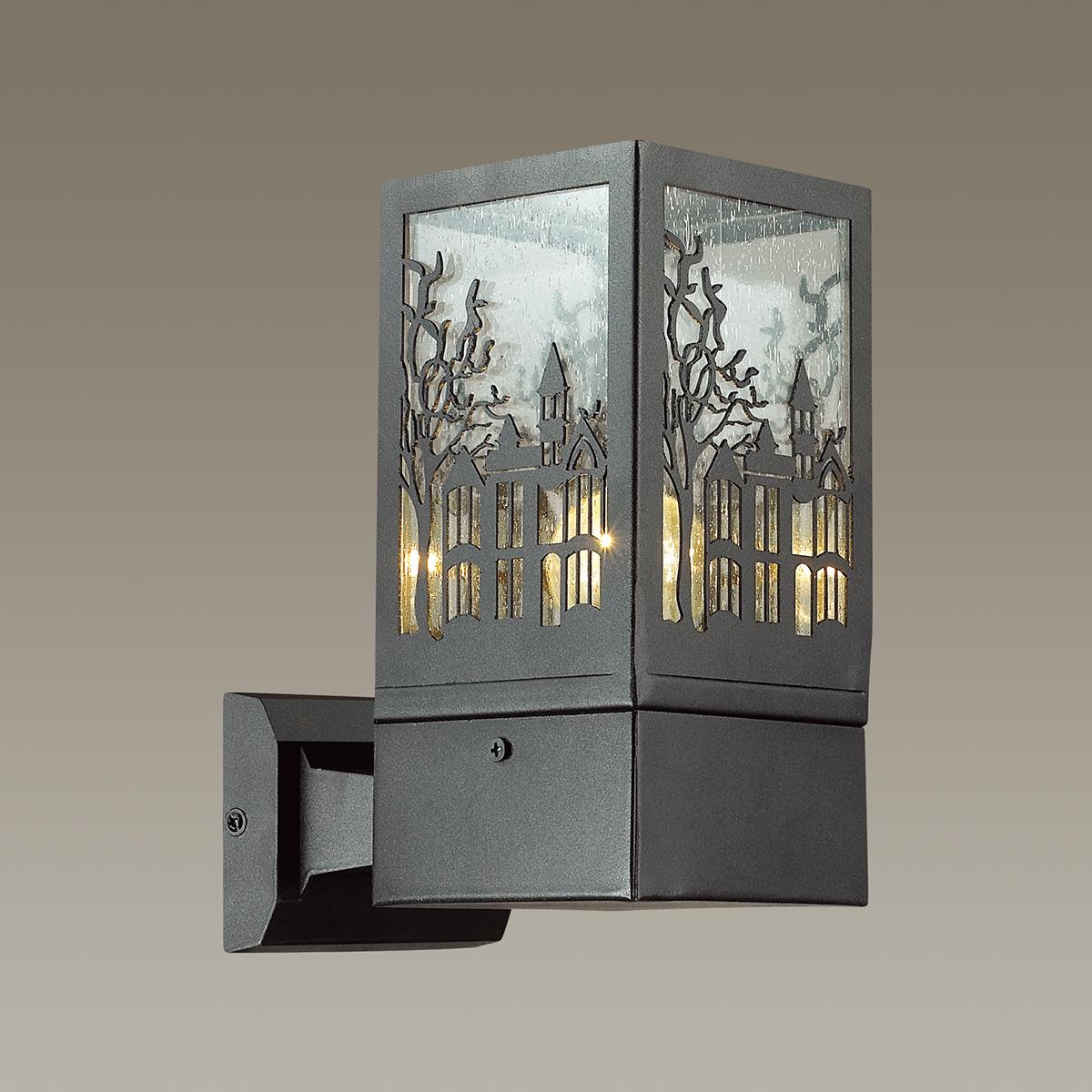 Настенный светильник Odeon Light Fressi 4054/1W, IP44, 1xE27x60W, черный, прозрачный, металл, стекло - фото 1