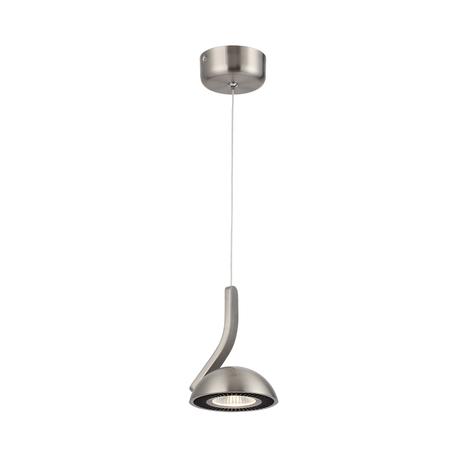 Подвесной светодиодный светильник Odeon Light Karima 3535/1L, LED 7W, 3000K (теплый), никель, черный, металл