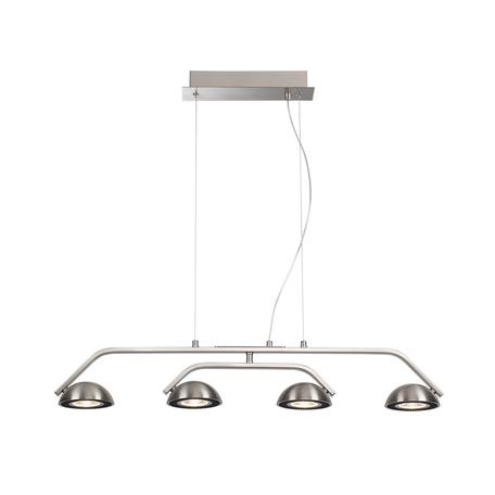 Подвесной светодиодный светильник Odeon Light Karima 3535/4L 3000K (теплый), никель, черный, металл