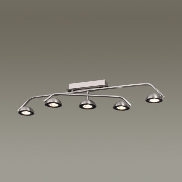 Потолочный светодиодный светильник Odeon Light Karima 3535/5CL, LED 35W, 3000K (теплый), никель, черный, металл - миниатюра 2