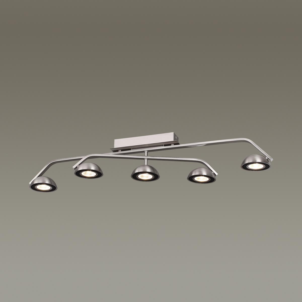 Потолочный светодиодный светильник Odeon Light Karima 3535/5CL, LED 35W, 3000K (теплый), никель, черный, металл - фото 2