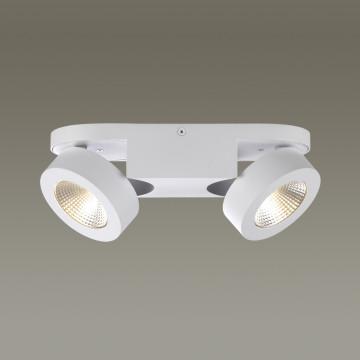 Потолочный светодиодный светильник с регулировкой направления света Odeon Light Laconis 3538/2WA 3000K (теплый), белый, металл - миниатюра 1