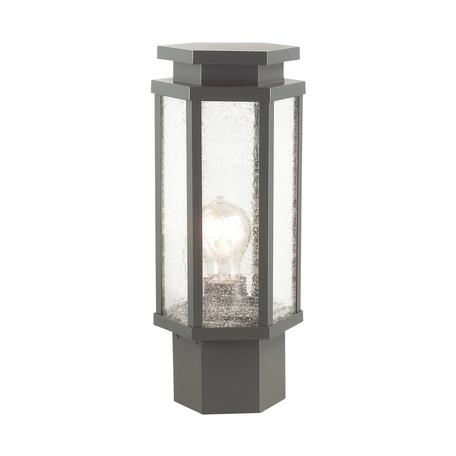 Садово-парковый светильник Odeon Light Nature Gino 4048/1B, IP44, 1xE27x100W, темно-серый, прозрачный, металл, металл со стеклом