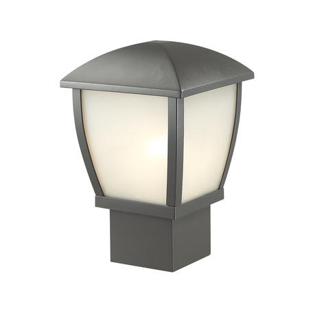 Садово-парковый светильник Odeon Light Nature Tako 4051/1B, IP44, 1xE27x100W, темно-серый, металл, металл с пластиком