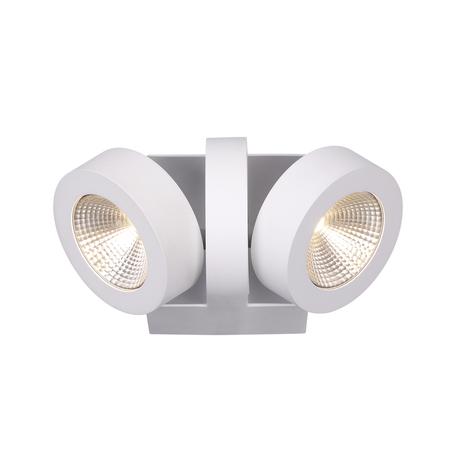 Потолочный светодиодный светильник с регулировкой направления света Odeon Light Laconis 3538/2WA, LED 20W, 3000K (теплый), белый, металл