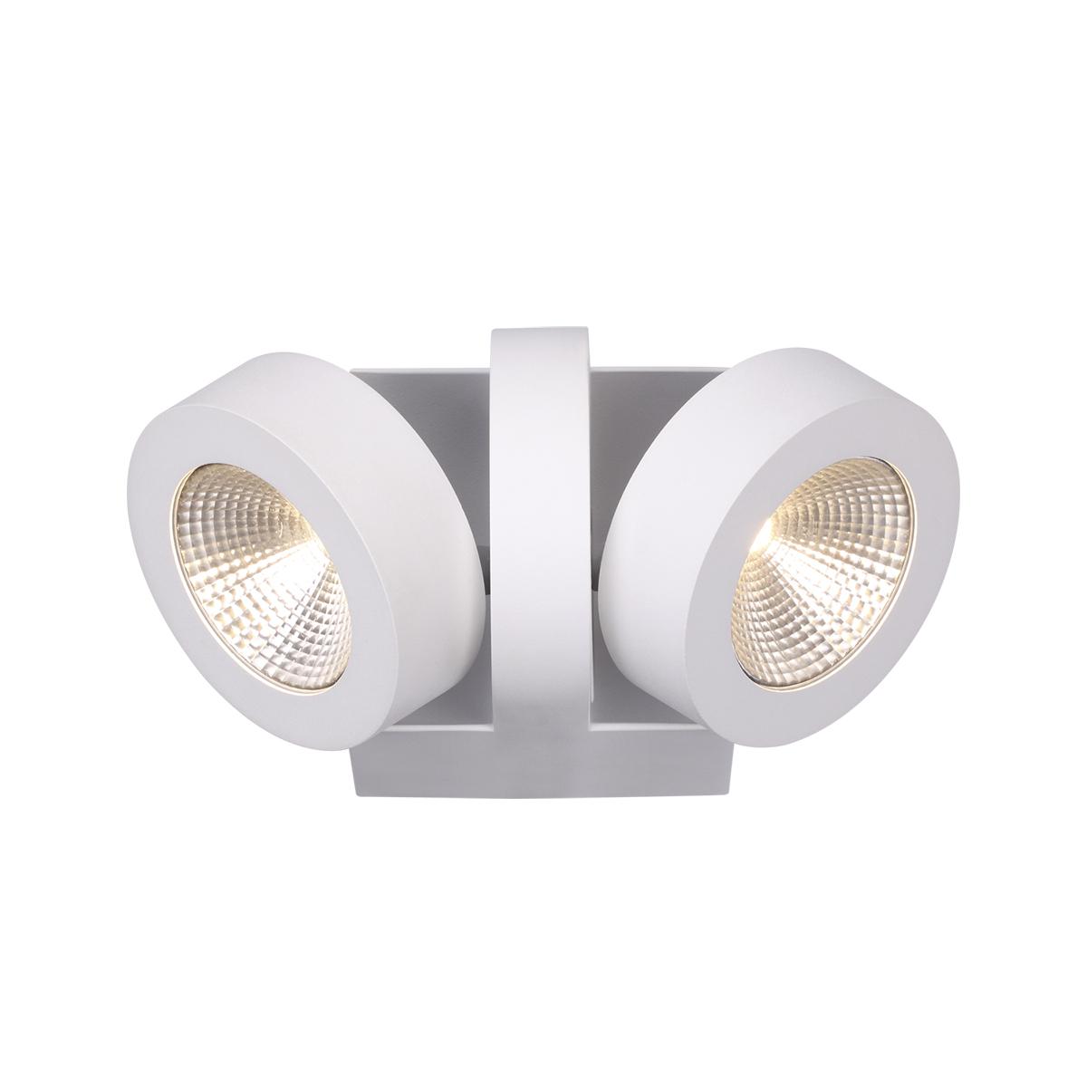 Потолочный светодиодный светильник с регулировкой направления света Odeon Light Laconis 3538/2WA, LED 20W, 3000K (теплый), белый, металл - фото 1