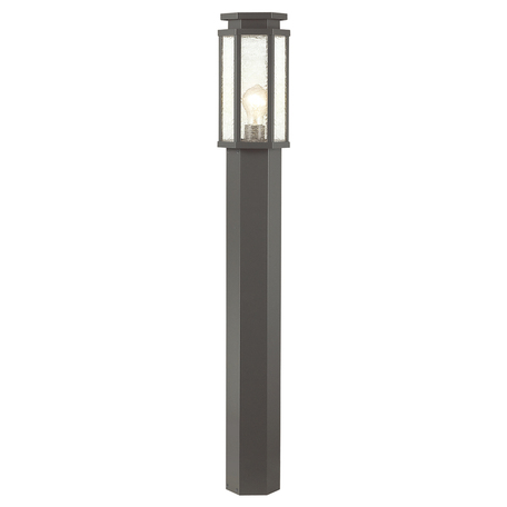 Уличный фонарь Odeon Light Gino 4048/1F, IP44, 1xE27x100W, серый, прозрачный, металл, стекло