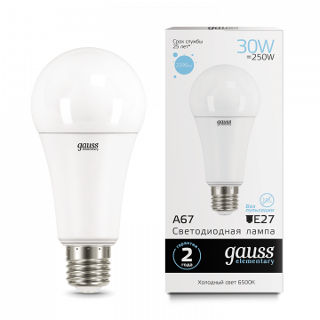 Светодиодная лампа Gauss Elementary 73239, белый