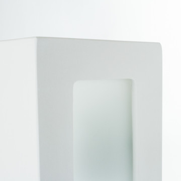 Настенный светильник Nowodvorski Gipsy Prostokat 2207, 2xE27x60W, белый, под покраску, гипс со стеклом, стекло - миниатюра 3