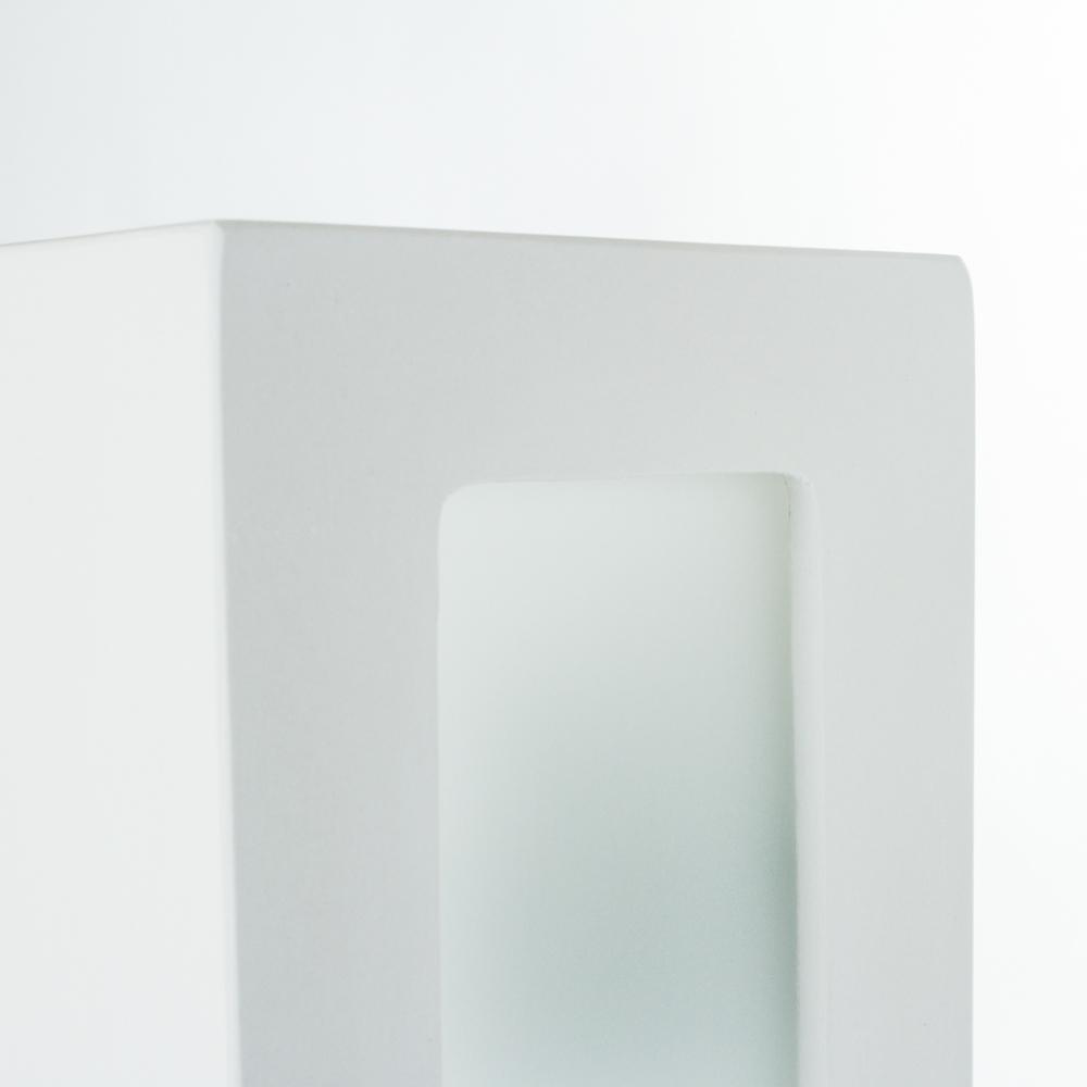 Настенный светильник Nowodvorski Gipsy Prostokat 2207, 2xE27x60W, белый, под покраску, гипс со стеклом, стекло - фото 3
