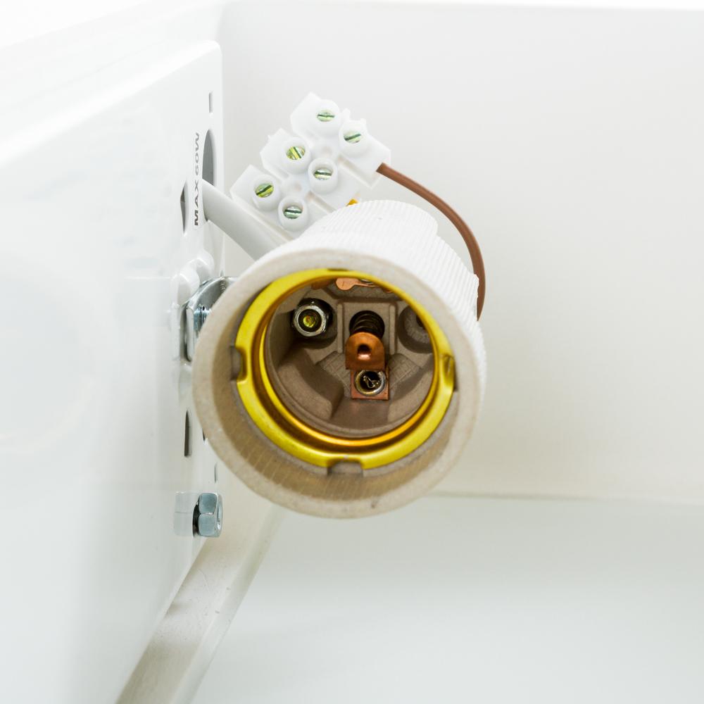 Настенный светильник Nowodvorski Gipsy Prostokat 2207, 2xE27x60W, белый, под покраску, гипс со стеклом, стекло - фото 5
