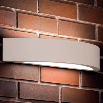 Настенный светильник Nowodvorski Gipsy Luk 2411, 2xE27x60W, белый, под покраску, гипс со стеклом, стекло