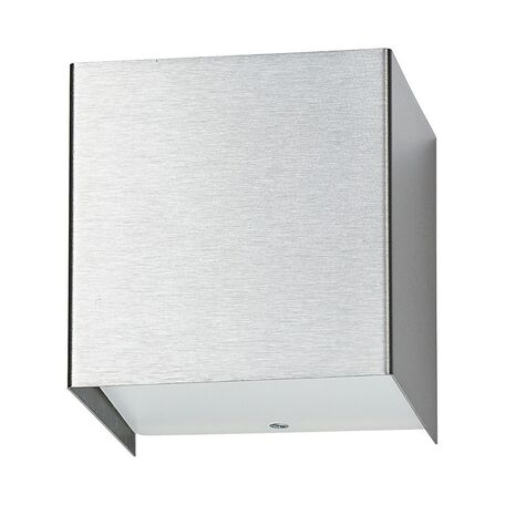 Настенный светильник Nowodvorski Cube 5267, 1xG9x50W, серебро, металл, стекло
